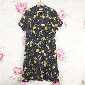 NEW Vintage Style Chaus Silk Floral Dress 14